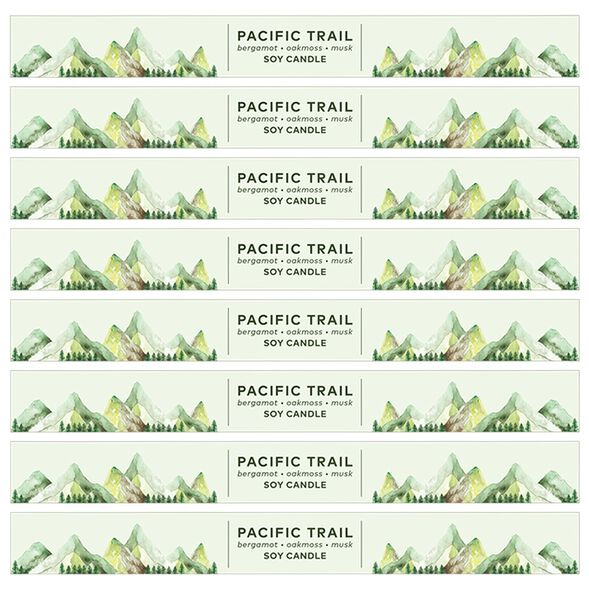 Pacific Trail Candle Digital Label