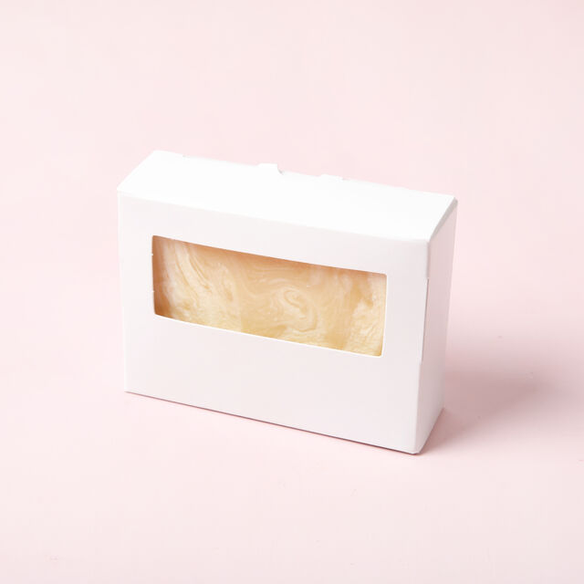 White Soap Box with Window