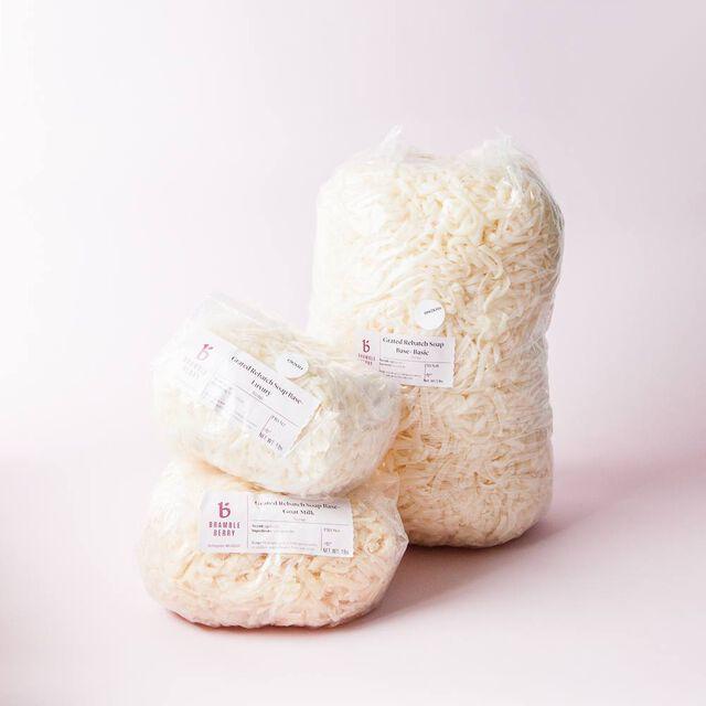 Grated Rebatch Soap Base - Goat Milk