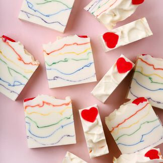 Heart the Rainbow Soap Project