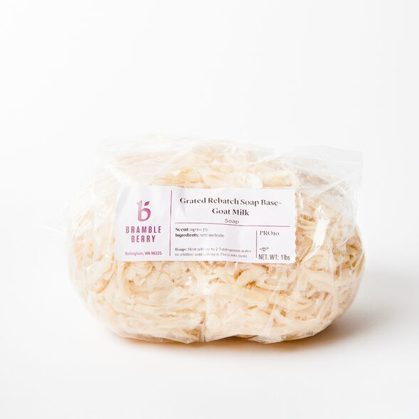 Grated Rebatch Soap Base - Goat Milk