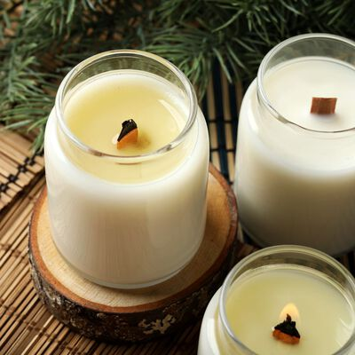 Cedar and Amber Candle Project