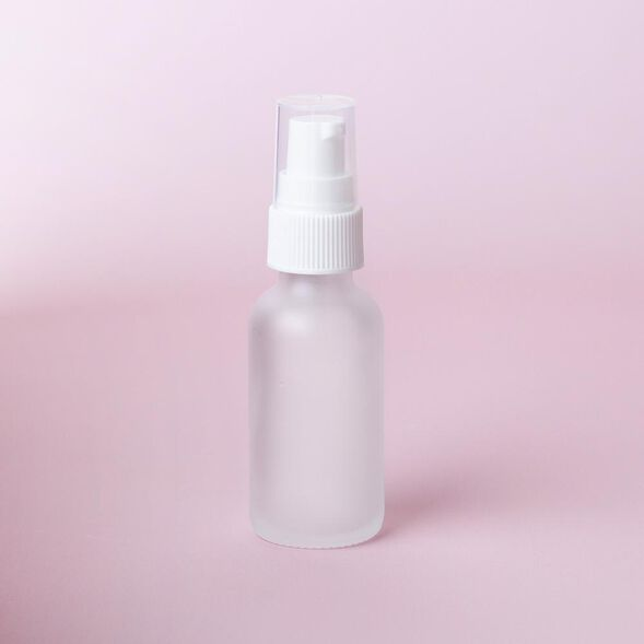 1 oz Frosted Glass Bottle with Serum Pump Cap