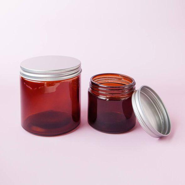 Amber 6 oz Glass Jar