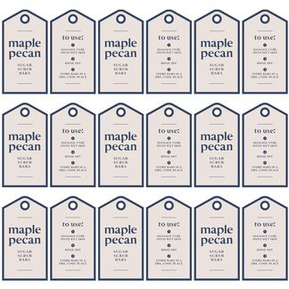 Maple Pecan Solid Scrub Digital Label