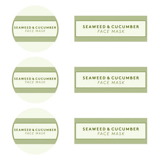Seaweed and Cucumber Mask Digital Label
