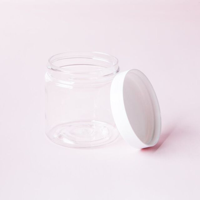 4 oz Clear Jar with White Cap