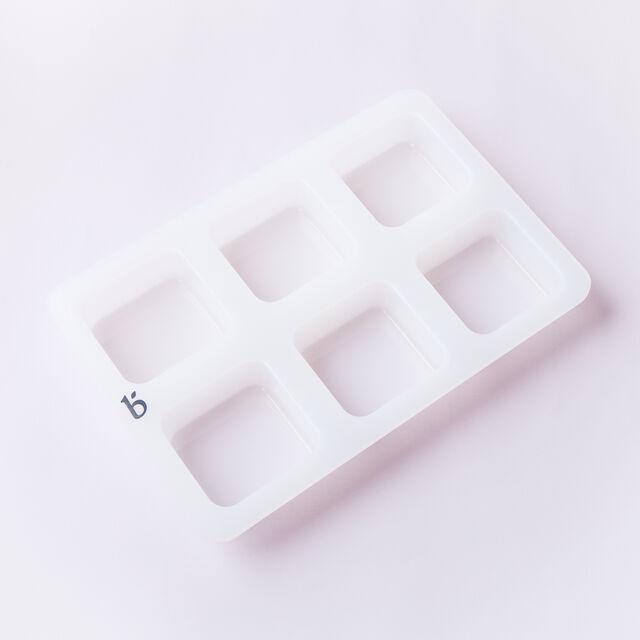 6 Cavity Silicone Square Mold - 1 Mold