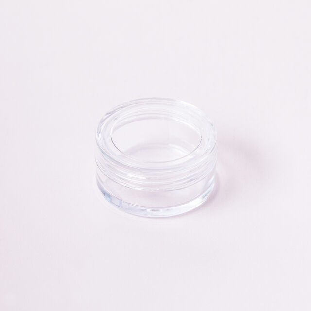 Non-stackable Clear Lip Butter Pots