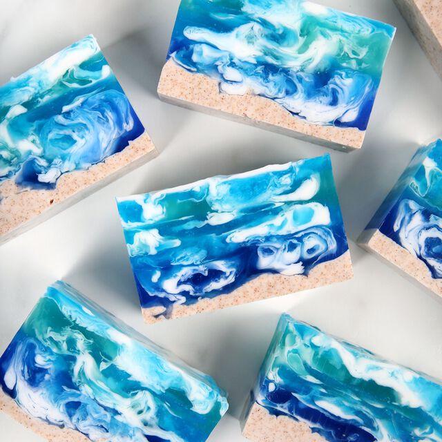 Seascape Melt and Pour Soap Project