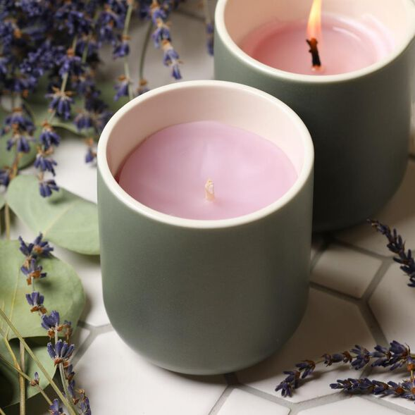 Peaceful Lavender Candle Project