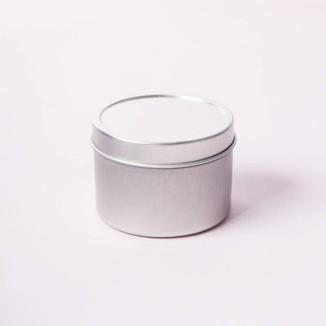 Silver Candle Tins