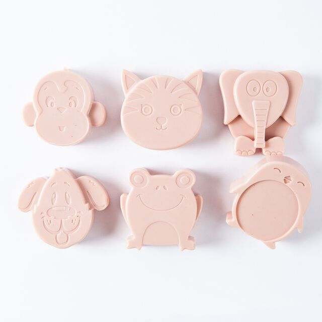 6 Cavity Kids Animals Silicone Mold - 1 Mold