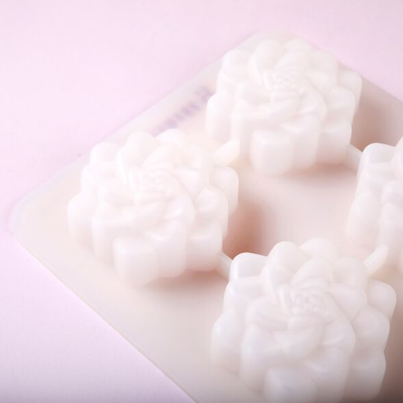 4 Cavity Succulent Silicone Mold