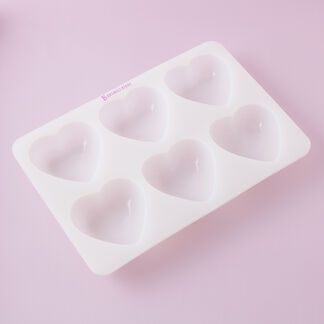 6 Cavity Heart Silicone Mold - 1 Mold