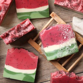 Watermelon Cold Process Soap Project