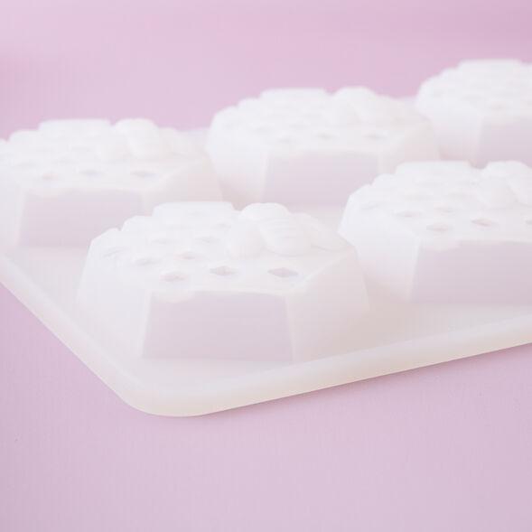 6 Cavity Honeycomb Silicone Mold - 1 Mold