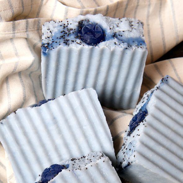 Blueberry Hot Process Soap Project