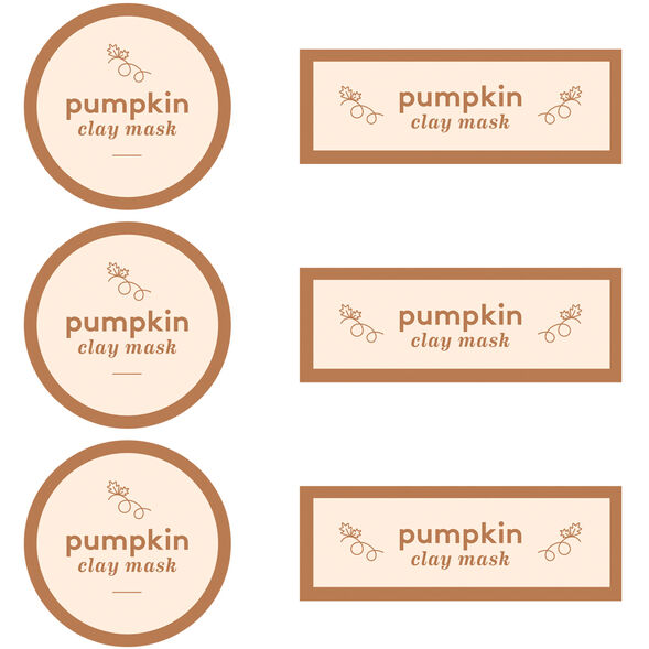 Pumpkin Clay Mask Digital Template