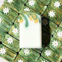 white soap with swirled top