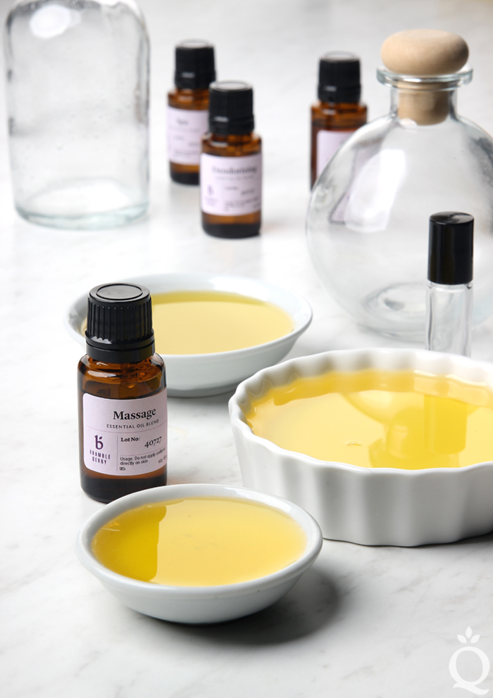 massage oil with essential oils | bramble berry
