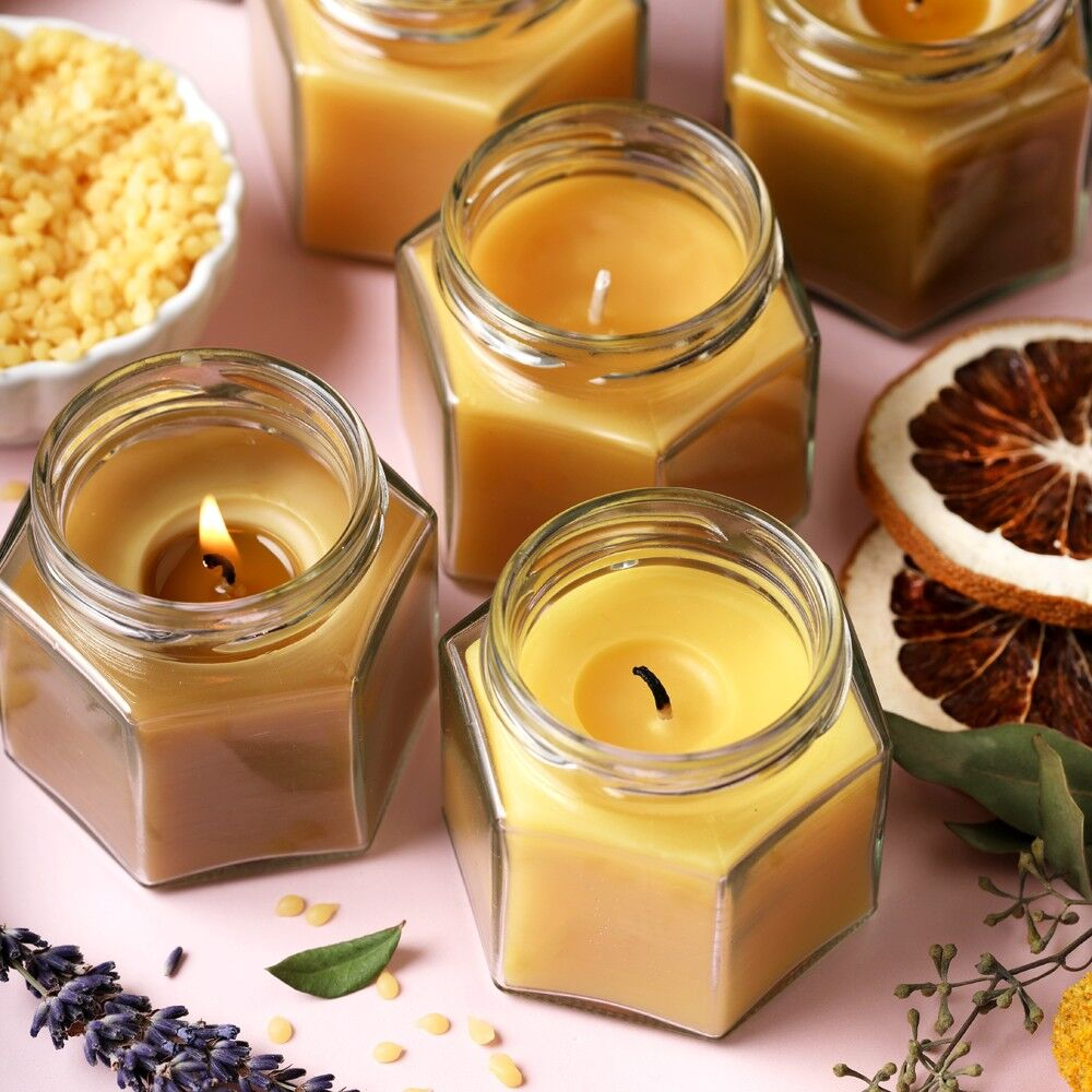 Cute Candle Container Candle Soy Container Candle Scented Candle Honey Candle Soy Candle Beeswax Yellow Candle