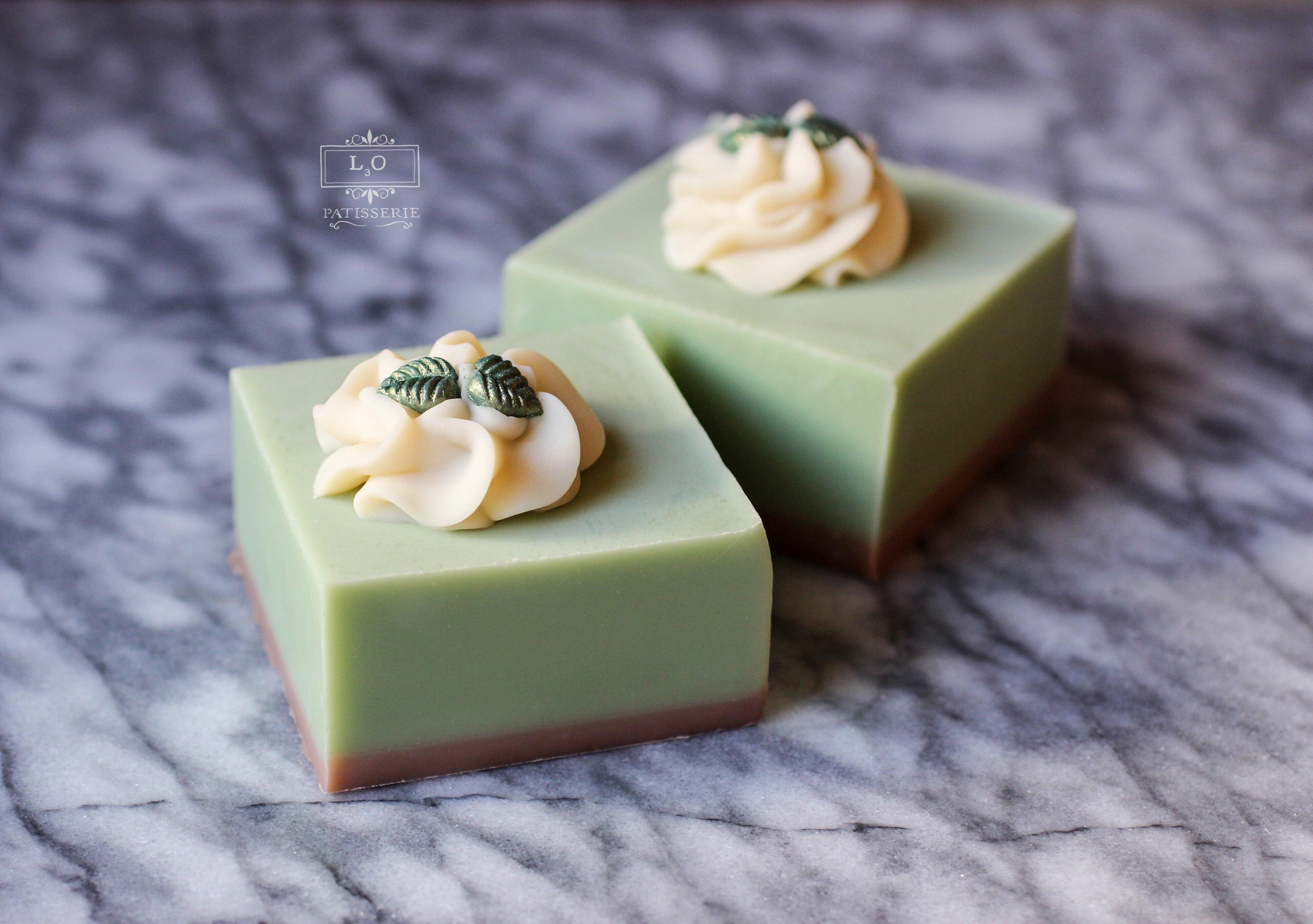 matcha tea soap by l3o soaps