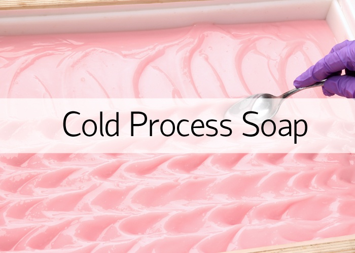 Texturing Pink Cold Process Soap With Spoon
