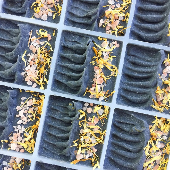 charcoal soap by pottermade soap