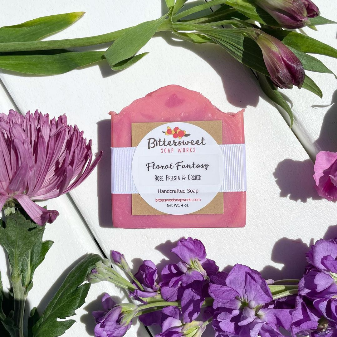 floral fantasy soap by bittersweet soap works