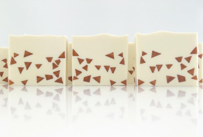 tiny triangle embed soap by soapish