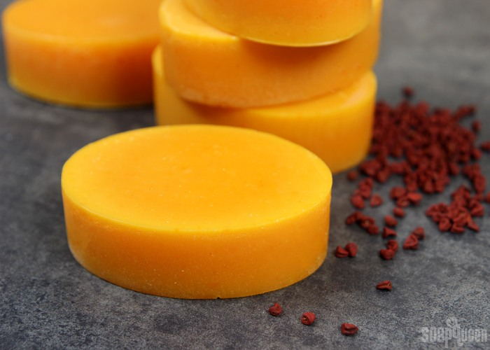 coconut annatto superfatted soap