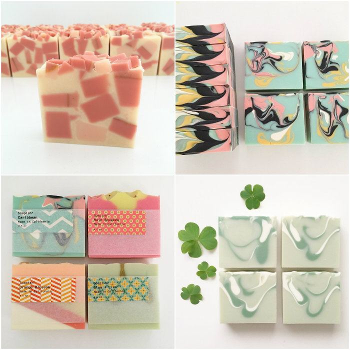 cold process soap collage by soapish