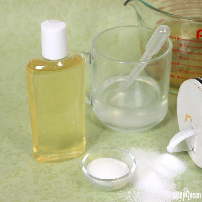 Thickening liquid soap base