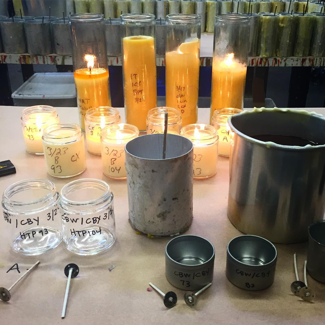 testing beeswax candles