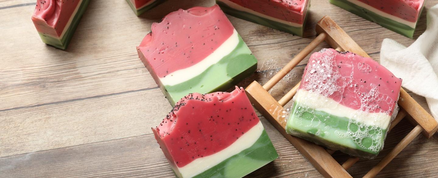 watermelon cold process soap project