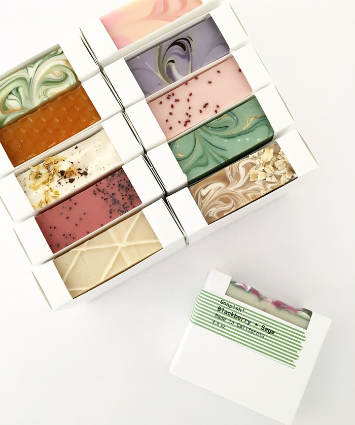 packaged cold process soap by soapish