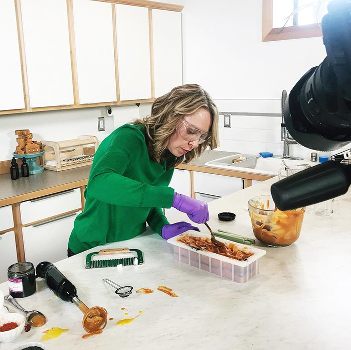 bramble berry ceo and founder anne-marie makes soap