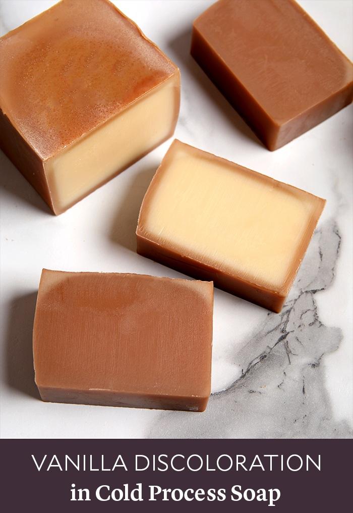 vanilla discoloration in soap | bramble berry