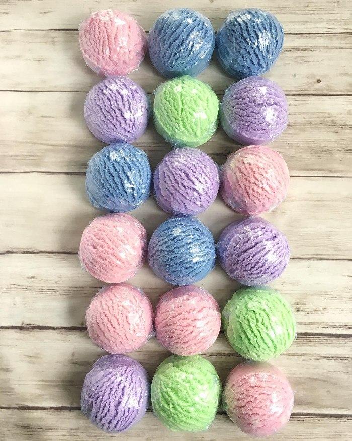 bubble bath scoops by erie handmade