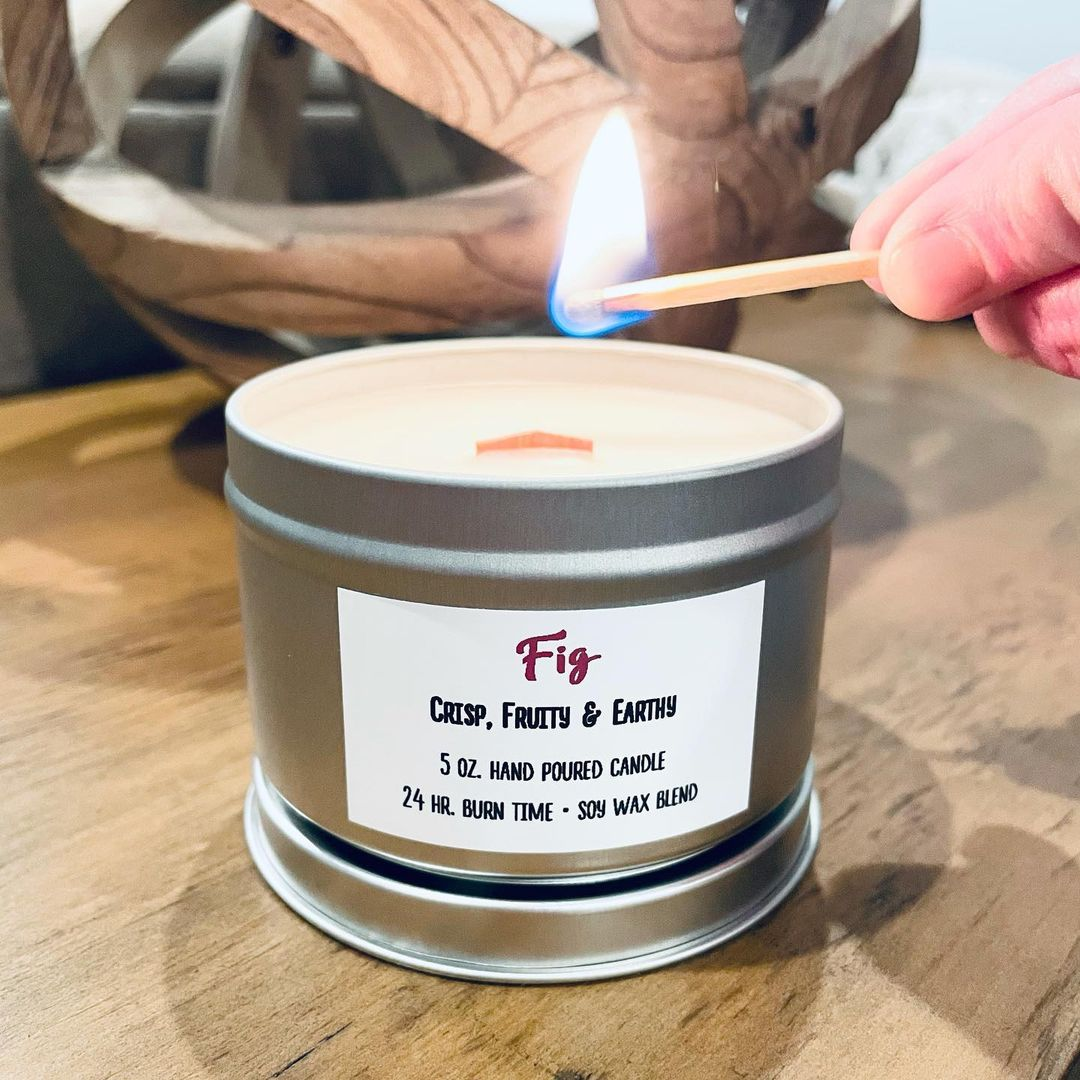 fig candle by bittersweet soap works
