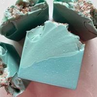 blue sliced soaps