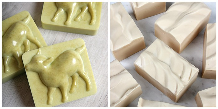 milk soap collage