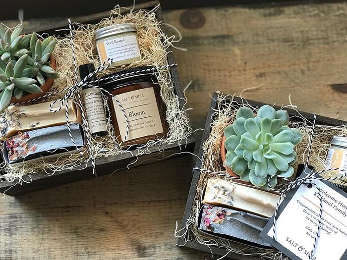 salt and shea custom gift box