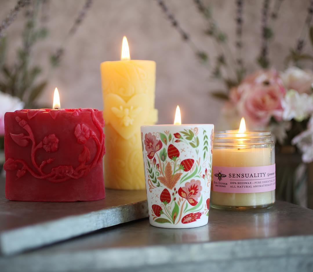 valentine's day candles by big dipper wax works