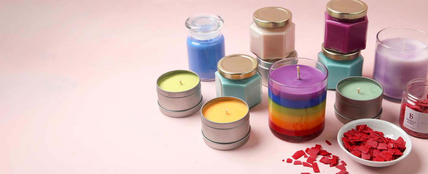 how to color candles
