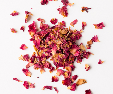 dried pink flower petals