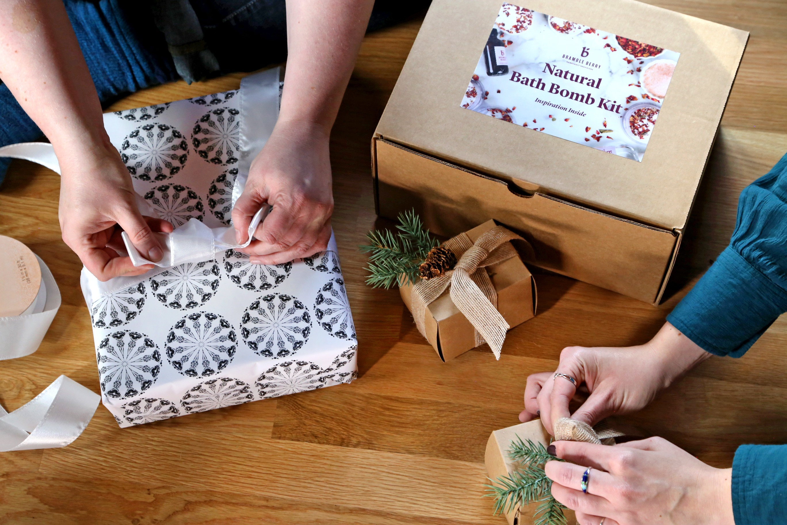 wrapping handmade gifts   Bramble Berry