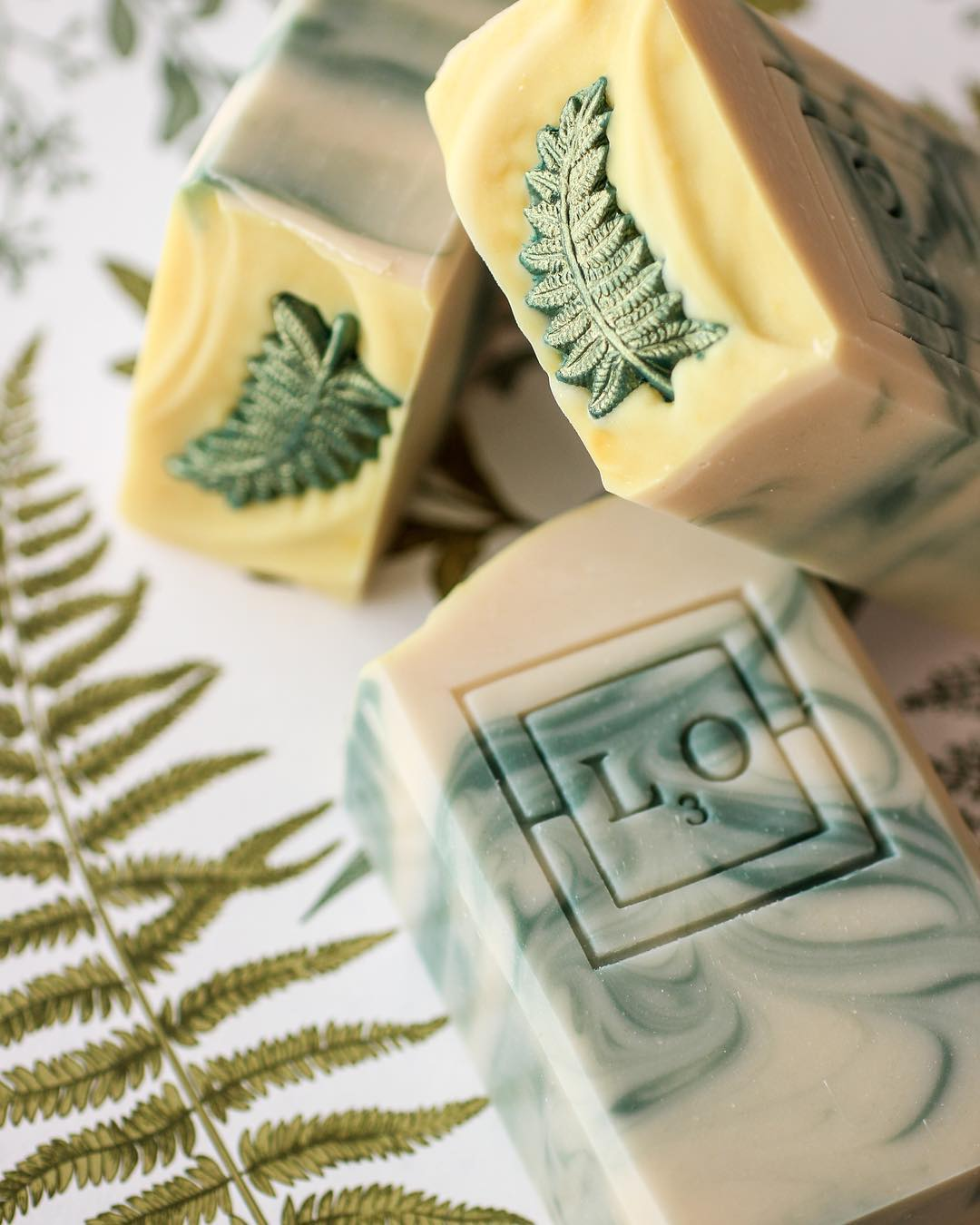 spring fern soap by l3o soaps