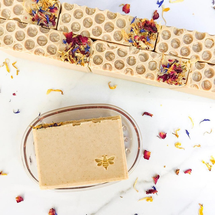 wildflower honey soap by pottermade soap